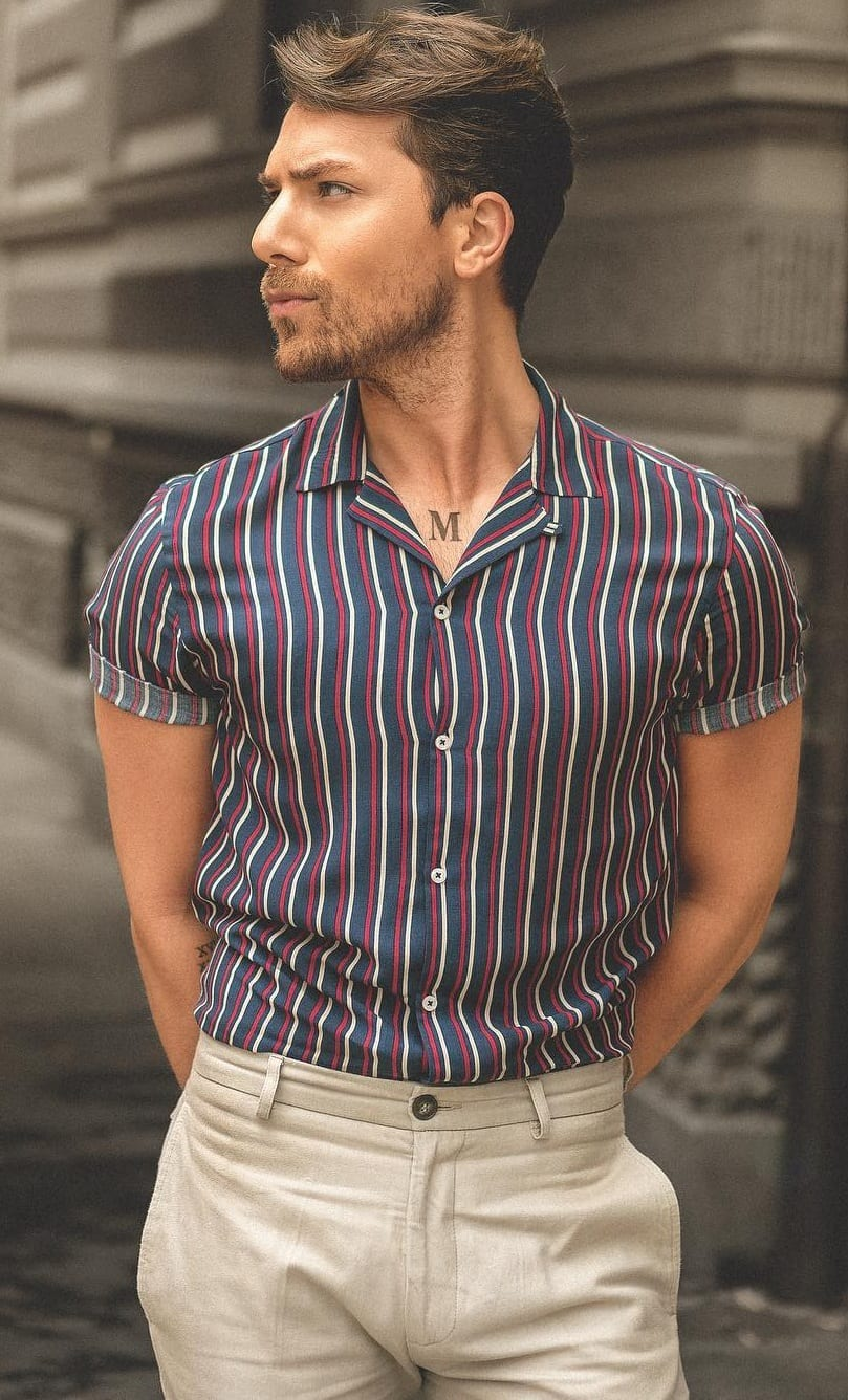 Cuban Collar Shirt Ideas for Men
