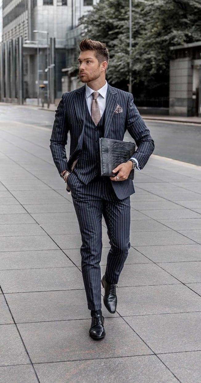 Pinstripe Suit Ideas for Men