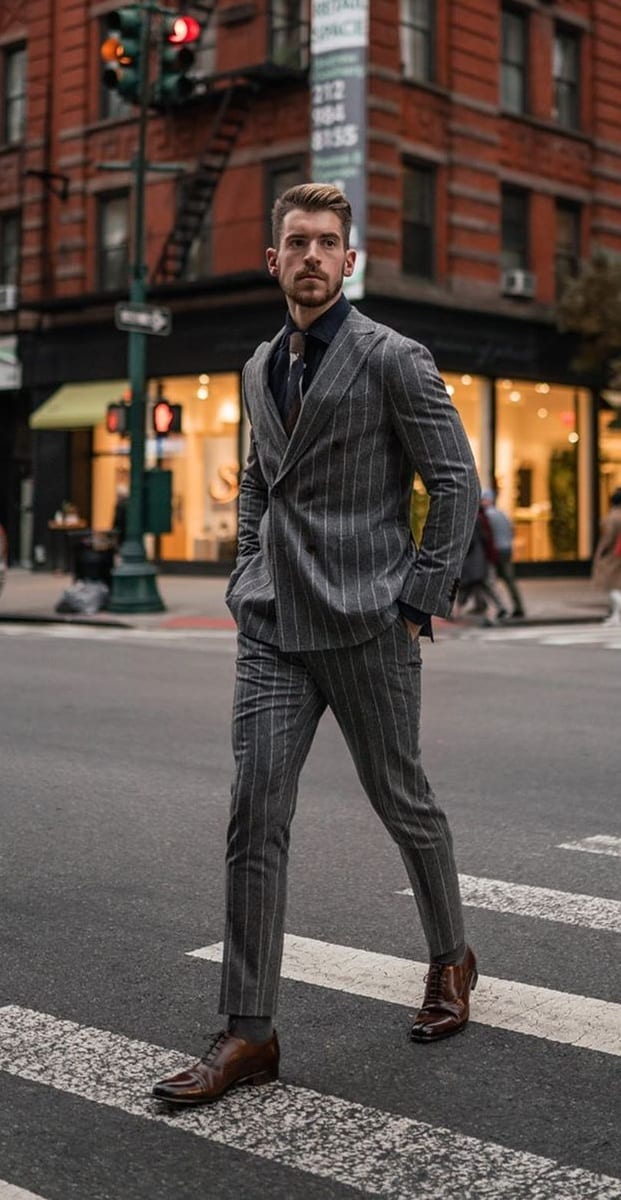 Striped Suit Outfit Ideas for March
