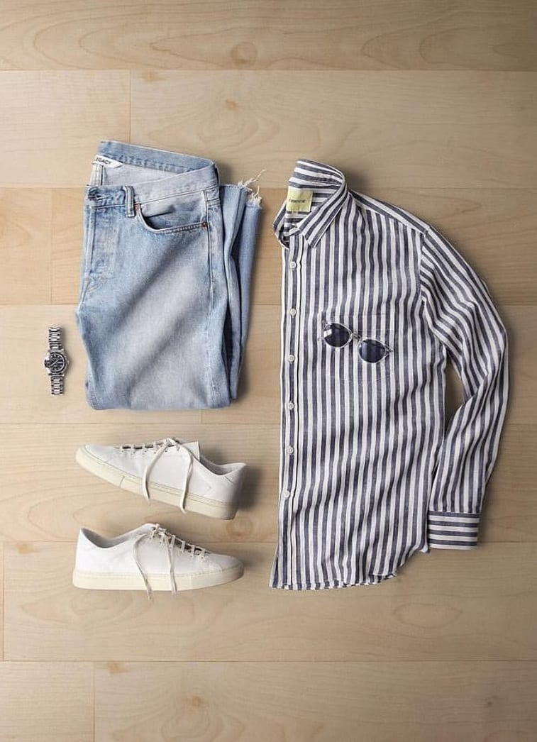 Stylish Summer Outfits Grid for Men