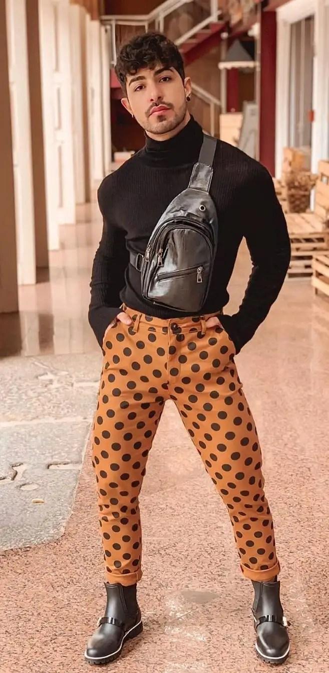 Turtleneck -Polka Dot Pant Fashion- Gay Fashion Trend