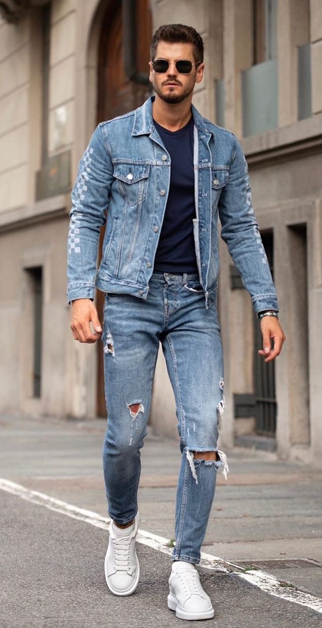 Amazing Denim on Denim Looks for Men