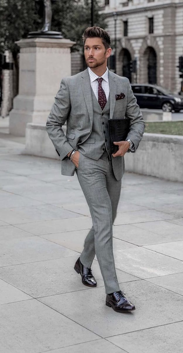 Best Grey Suit Outfit