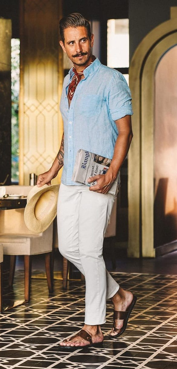 Linen Shirt- Trousers-Mens-Outfit-Ideas