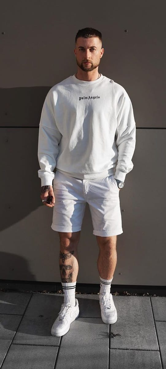 Mens All White Outfit Ideas