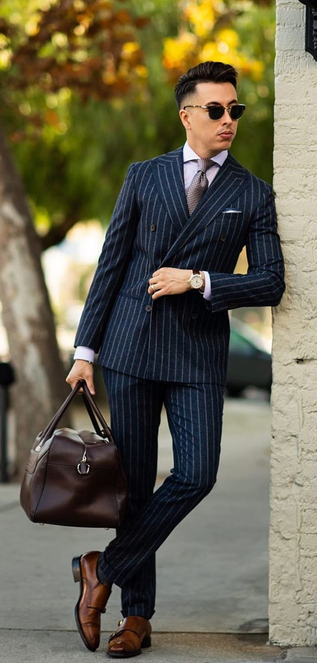 Pinstripe Navy Blue Suit- Work Wardrobe Essentials
