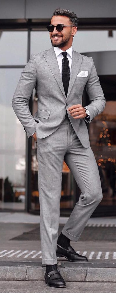 Shoes Idea for Suit Outfits