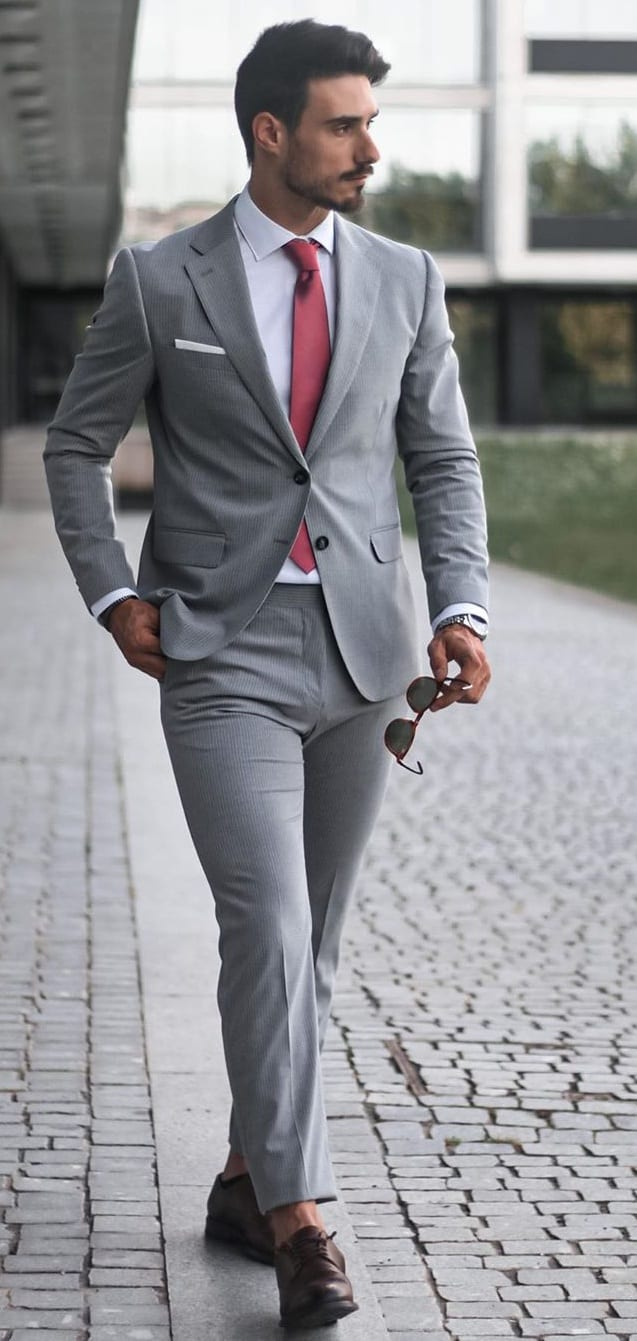 Best Grey Suit Outfit Ideas