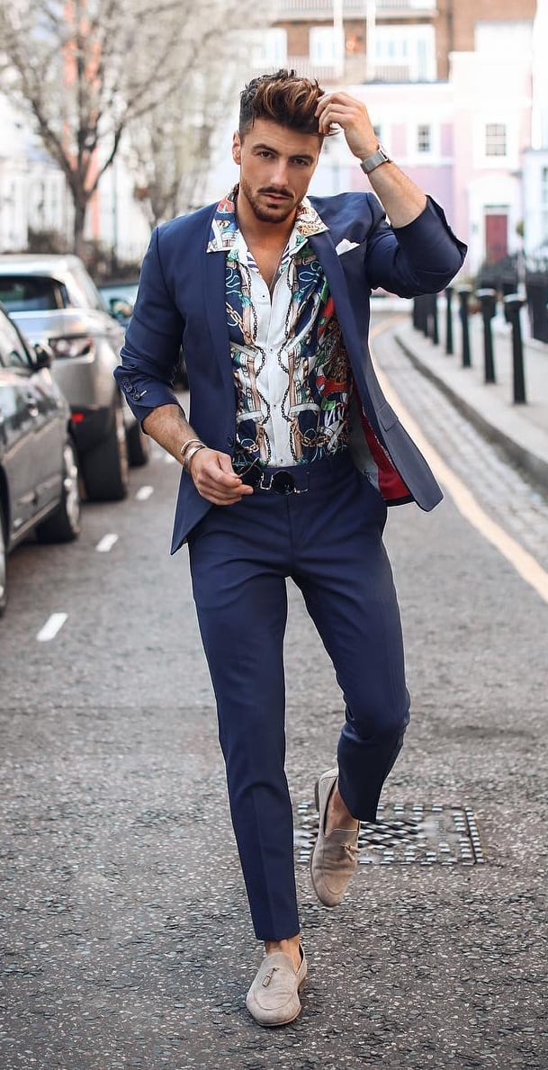Casual Shirt And Blazer - Summer Outfit Combinations for Men
