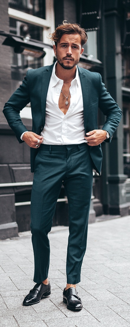 White Shirt Suit Outfit