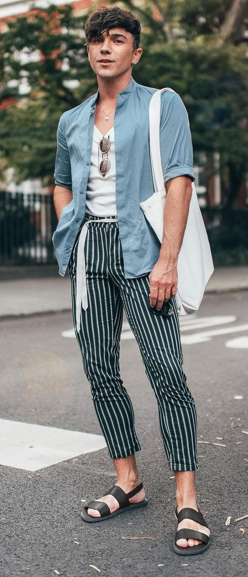 Cool Trousers- Tee- Overshirt- Outfits-for-Summer