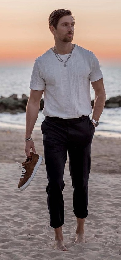 Casual Beach Vacation Outfit Ideas for Men
