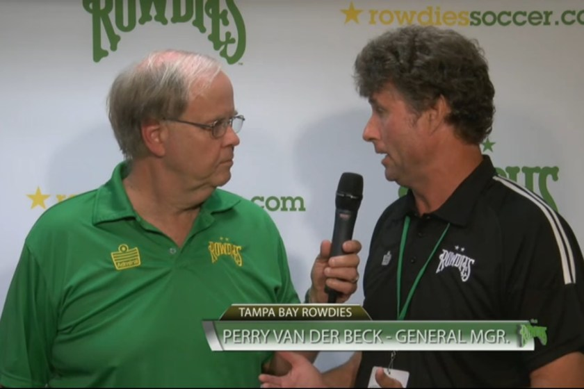Great38's Halftime Interview with Rowdies GM Perry Van der Beck