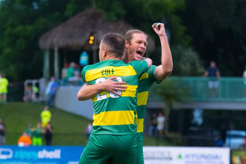 Rowdies Draw 2-2 with Riverhounds in Collins' Coaching Debut
