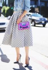 HallieDaily-Polka-Dot-Midi-Skirt-Saint-Laurent-Bag-Street-Style-1
