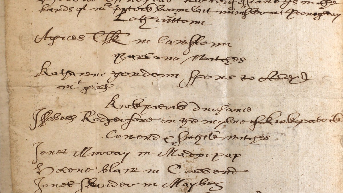 Names of the witches (in Scotland) 1658 – Welcome Library