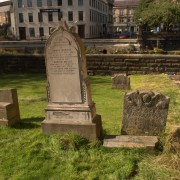 a section of the Abbey Close Secession Church graveyard