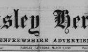 Paisley Herald newspaper banner