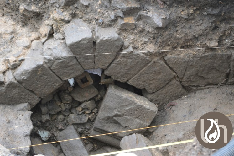 The exterior outlet of the medieval drain at Paisley - image: The Urban Historian