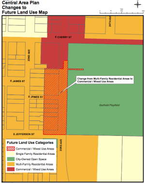 Central District Land Use Map Changes