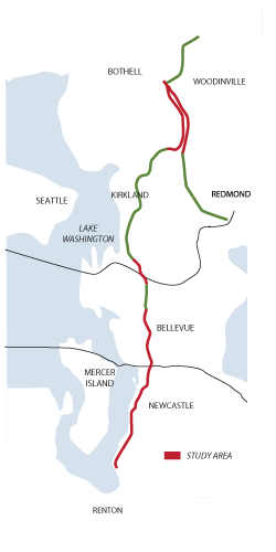 Eastside Rail Corridor Map