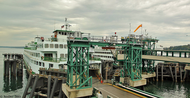 MV Elwha in Slip 1 and MV Hyak in Slip 2, Anacortes - Washington State Ferries