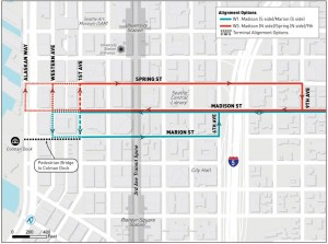 Madison BRT potential Downtown Routing