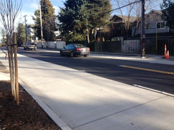 N 105th, N/NE Northgate Way Improvement Project – funded by Bridging the Gap, photo courtesy of SDOT.