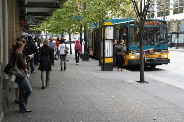 50,000 hours of Metro transit service have been secured with Bridging the Gap funds, photo courtesy of SDOT.