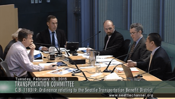Transportation Committee in session, courtesy of Seattle.