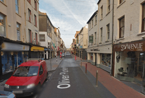 Woonerf with loading zones in Cork City.