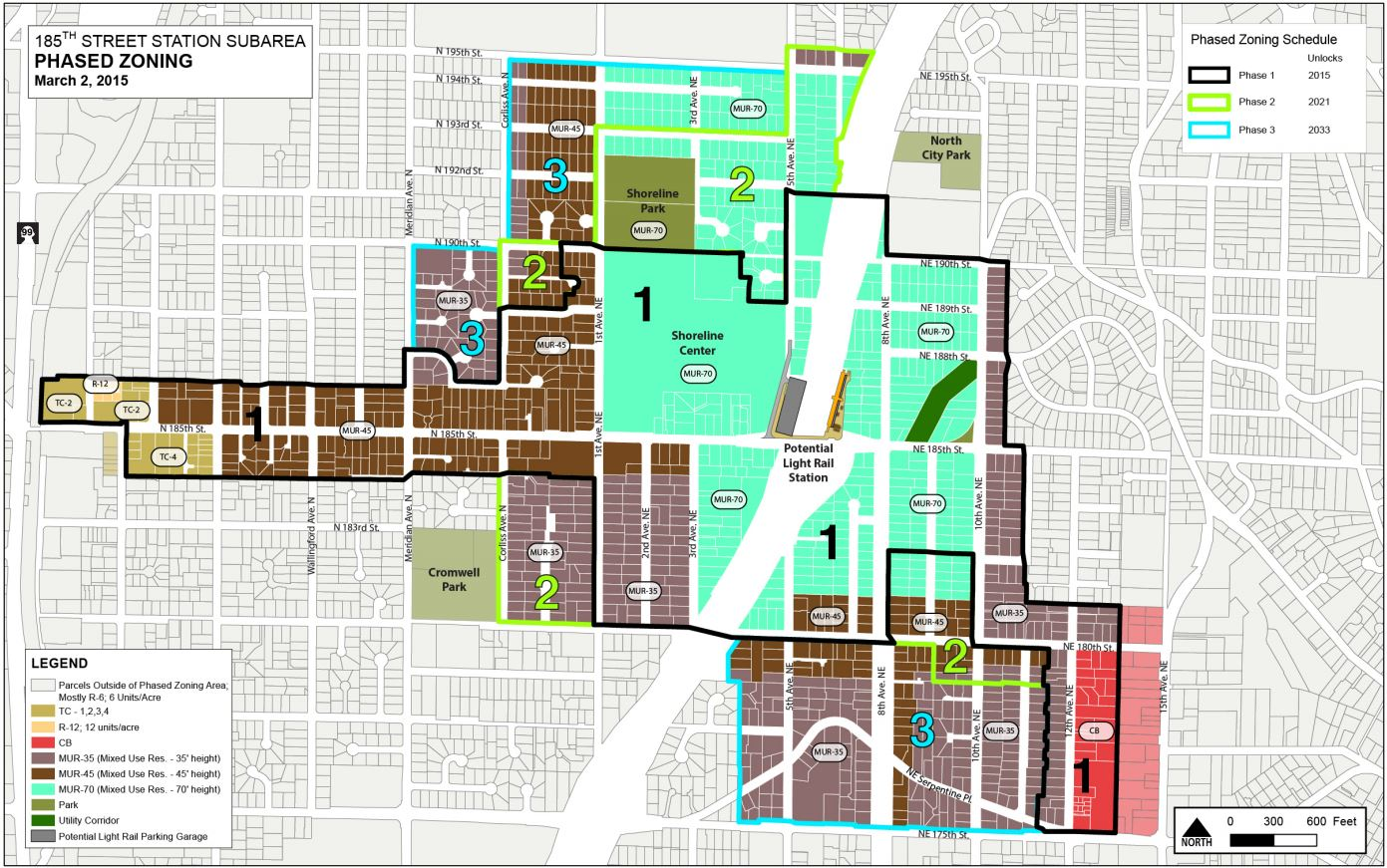 Shoreline Rezones 185th Street, But Holds Off On 145th Street | The