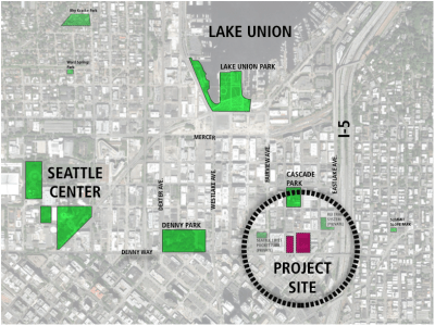 Project location in South Lake Union