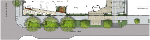 Proposed Terry Avenue streetscape.