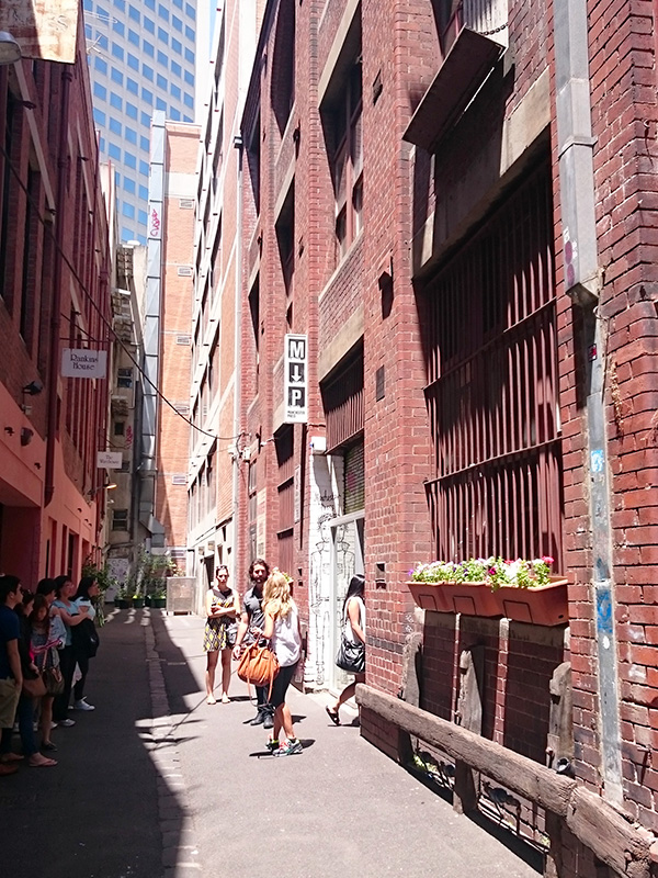 Heritage character is celebrated in Rankins Lane, Melbourne. Photo by Sarah Oberklaid.