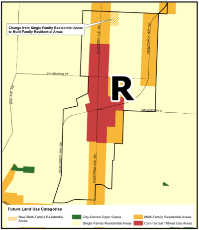 Proposed change to FLUM for Morgan Junction Residential Urban Village (City of Seattle)