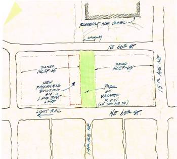 Conceptual plan for Roosevelt affordable housing and open space. (Rob Harrison)