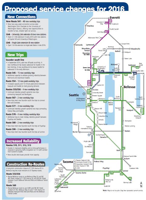 The 2016 service change proposal. (Sound Transit)