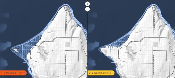 Alki Peninsula. (Climate Central)