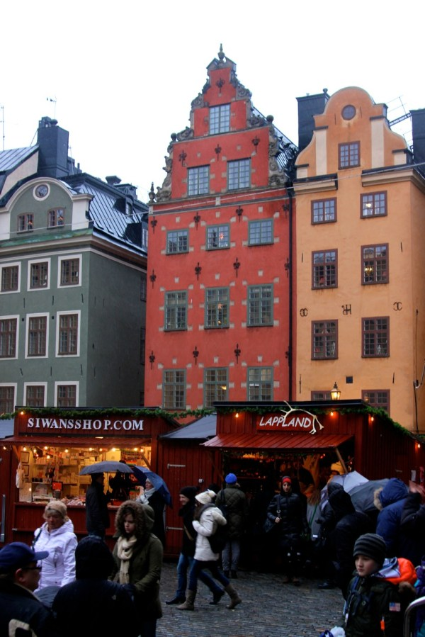 The annual Christmas market in Stortorget, in the oldest public square in Stockholm. (Photo by Sarah Oberklaid)