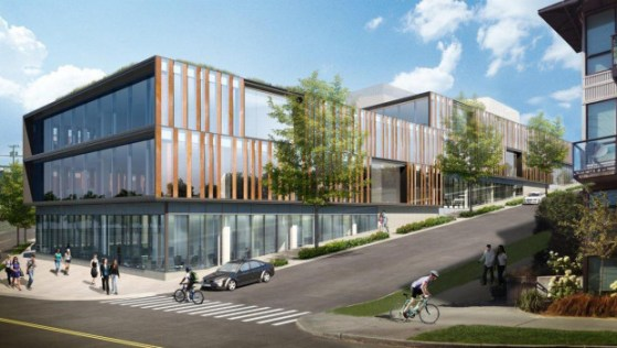 Tableau already had 200,000 square feet of office space in the Fremont area even before it signed an 11-year lease on NorthEdge's 210,000 square feet of office space in Frelingford. (Perkins + Will)