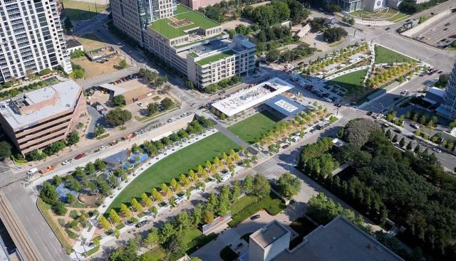 Klyde Warren Park in downtown Dallas, Texas. (Office of James Burnett)