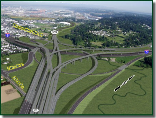 This is the planned billion-dollar upgrade to the I-5 and SR-167 interchange.