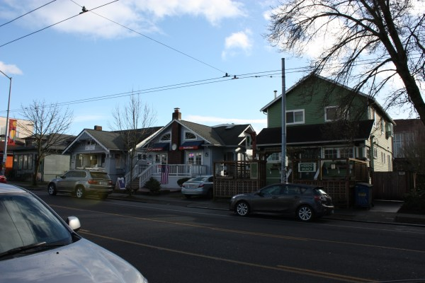 The western part of 45th Street is characterized by single family homes, mostly Craftsmens, converted to business, such as dental offices and restaurants.