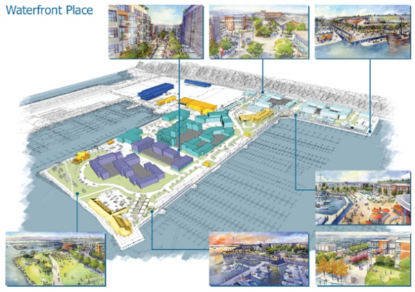 Masterplan for Waterfront Place. (Port of Everett)