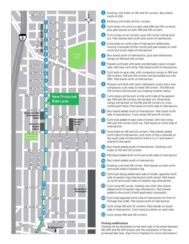 Corridor improvements planned for Roosevelt Way NE. (City of Seattle)