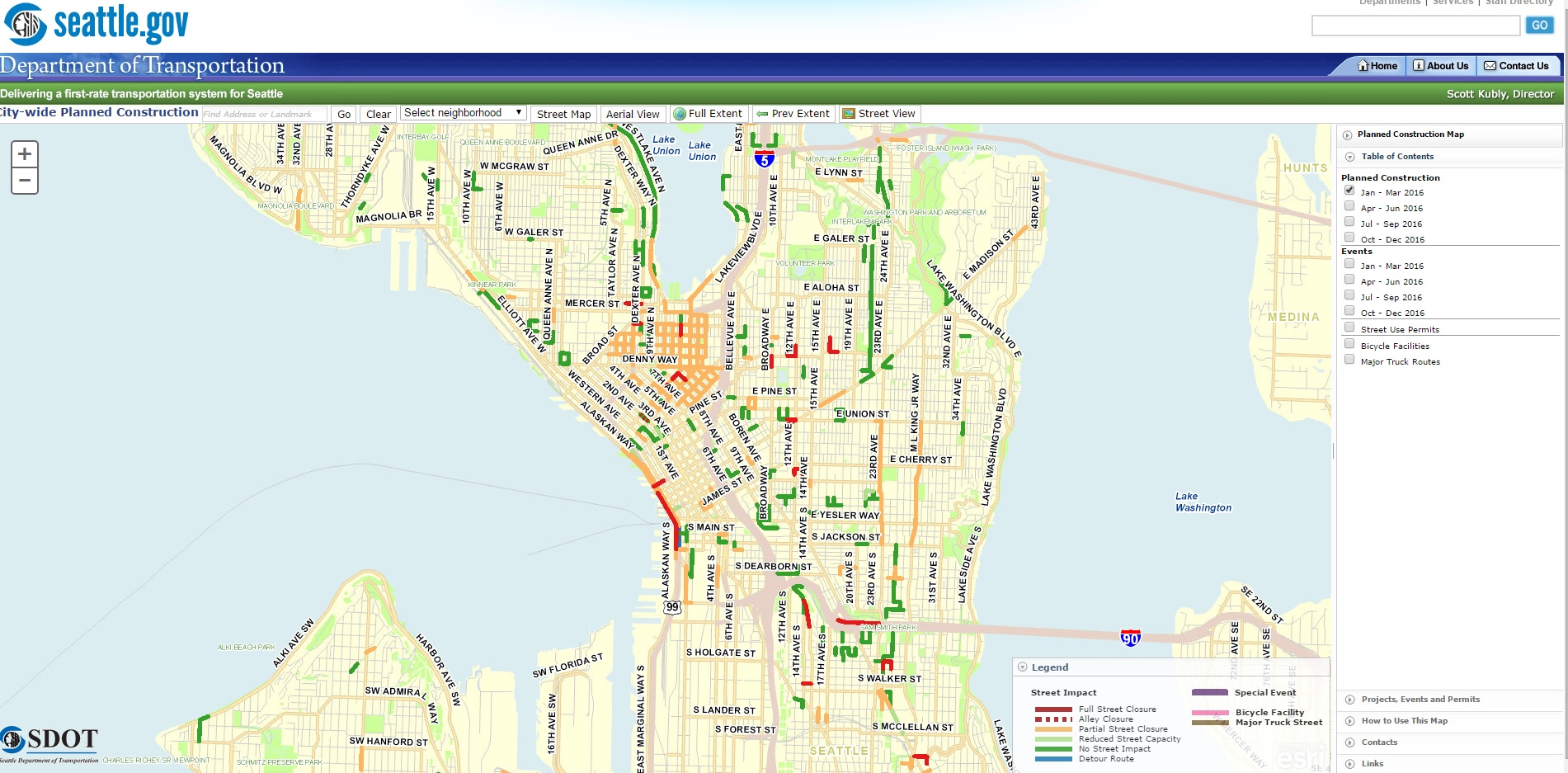 SDOT Launches Map Tool To Help Street Users Deal With Construction