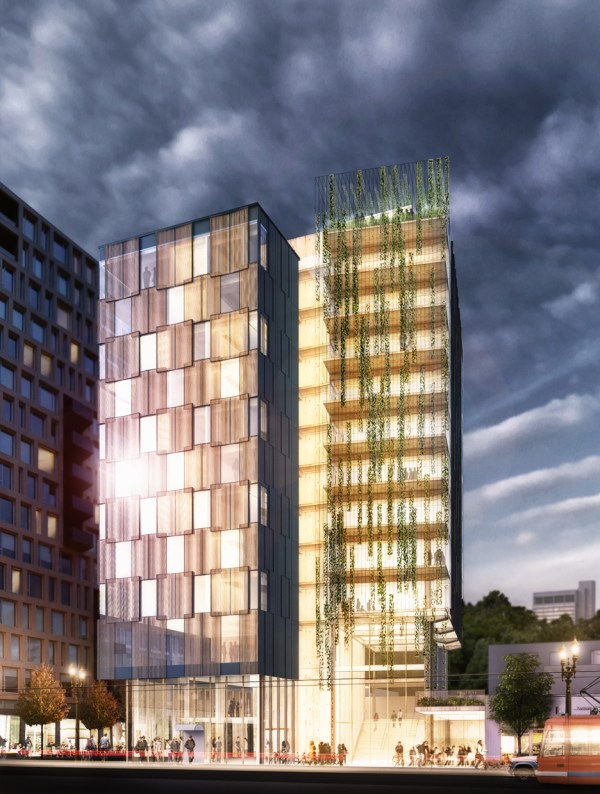 Lever Architecture is building a 130-foot CLT tower called Framework in the Pearl District of Portland with the help of a $1.5 million grant from the USDA. If successful, the project would be a proof of concept for cross laminated timber on Cascadian soil. (Lever Architecture)