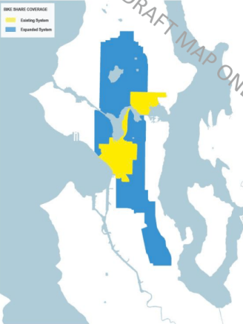 Possible service expansion area (blue) in 2017. (City of Seattle)