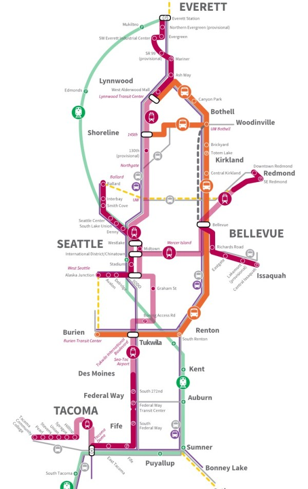 Draft Plan expansion concept for the region. (Sound Transit)